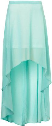 Dip Hem Maxi Skirt and other apparel, accessories and trends. Browse and shop related looks. Long Blue Skirts, Hi Low Skirts, Ankle Length Skirt, Future Fashion, Rock, Dress Me Up, Maxis, Dress To Impress, Dress Skirt