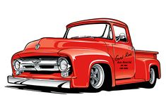 Classic Ford Truck Illustration on Behance