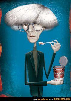 Caricatura de Andy Warhol.
