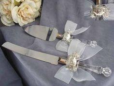 tortenheber mit tuellschleifen DIY Ihre Hochzeitstischdeko