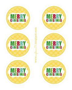 Christmas tag free printable