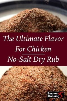 Savory chicken dry rub adds exceptional flavor to your smoked chicken. Optional recipe instructions for a healthy, salt-free dry rub included. Smoked Chicken Rub, Dry Rub For Chicken, Smoked Beef, Bbq Chicken Dry Rub Recipe, Poultry Rub Recipe, Barbecue Chicken, Baked Chicken, Homemade Dry Mixes, Smoker Cooking