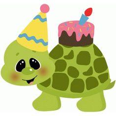 Silhouette Design Store: birthday turtle w cake Birthday Clips, Art Birthday, Birthday Greetings, Birthday Wishes, Happy Birthday, Silhouette Cameo Projects, Silhouette Design, Turtle Images, Birthday Painting