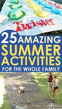 25 Summer Activities for Kids (and the whole family)! - - These fun DIY summer activities for kids are free or cheap ways to have fun at home! Indoor and outdoor activities to help you keep them busy all summer! Activities For 6 Year Olds, Outdoor Activities For Toddlers, Summer Camp Activities, Indoor Activities, Educational Activities, Water Activities, Family Activities, Learning Activities, Summer Fun For Kids