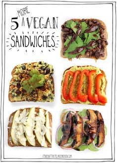 There are 5 sandwiches recipes, all right here. One for every day of the work week, although I am a big fan of sandwiches for dinner too. Many of these can be prepared in advance, so let's get sandwiching! Vegan Recipes Beginner, Best Vegan Recipes, Vegan Dinner Recipes, Recipes For Beginners, Healthy Dinner Recipes, Beef Recipes, Cooking Recipes, Family Recipes, Potato Recipes