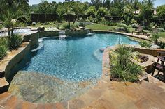 pools with tanning shelf and hot tub - Google Search