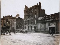 Liberty Hall and a bombarded house, Beresford Place.