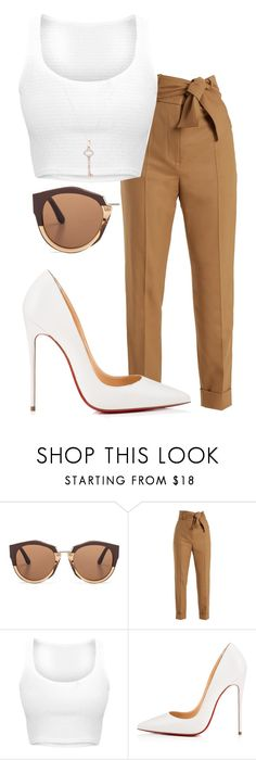 """Untitled #294"" by uunknnoown on Polyvore featuring Marni, Sara Battaglia, Christian Louboutin and Tiffany & Co."