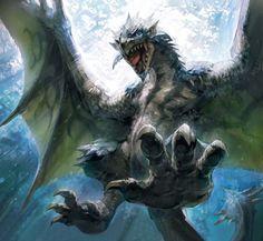 Azure Rathalos - The Monster Hunter Wiki - Monster Hunter, Monster ...
