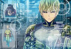 Tags: Anime, Yukimaru (Artist), One Punch-Man, Genos, Onsoku no Sonic, Saitama, Cyborg