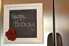 White Decorative Magnetic Chalk Board Frame by ReinventingOrdinary, $20.00