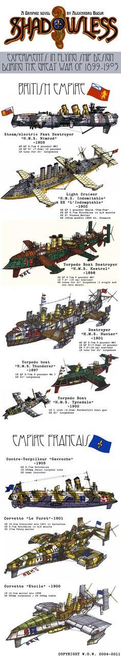 Shadowless Flying Ship Design by wingsofwrath