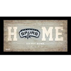 Steiner Sports Home Sweet Home Framed Graphic Art Size: H x W x D, Team: San Antonio Spurs Spurs Fans, Sweet Home, Larry Bird, Oklahoma City Thunder, Sports Toys, Home Team, San Antonio Spurs, New York Knicks, Golden State Warriors