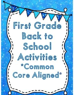 First grade back to school activity packet