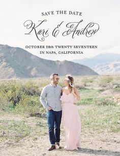 Timeless Script Save-the-Date Cards