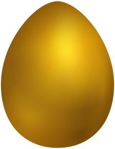 Gold Easter Egg PNG Clip Art