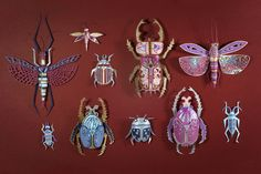 Fucking beautiful! Papercrafted insects by Zim (Thibault Zimmermann & Lucie Thomas), a studio based in Nancy, France.
