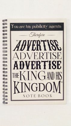 Advertise the King & his Kingdom HARD COVERED by TheLampstand, $24.99