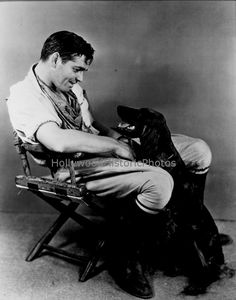 Clark Gable and Dog