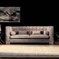 Capital Decor // Kapiente Sofa - Italy.  Classic Chic Sofa, in leather or Fabric Finish.   PasseriniCasa.com