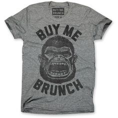 Buy Me Brunch Ape Tee Men's, $19.50, now featured on Fab.