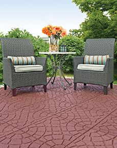 Envirotile Bella Rocca 18 in. x 18 in. Earth Paver - The Home Depot Rustic Furniture, Living Room Furniture, Home Furniture, Outdoor Furniture Sets, Outdoor Decor, Modern Furniture, Outdoor Ideas, Antique Furniture, Outdoor Living