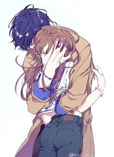 Manga Couple I wish i find someone now that i healed completely. Manga Anime, Anime Amor, Art Manga, Couple Manga, Anime Love Couple, Anime Couples Hugging, Cute Anime Couples, Anime Cosplay, Anime Girlfriend