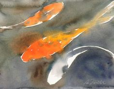 Koi Fish No.1, limited edition of 50 fine art giclee prints WaterWorksbySumiyo  Etsy