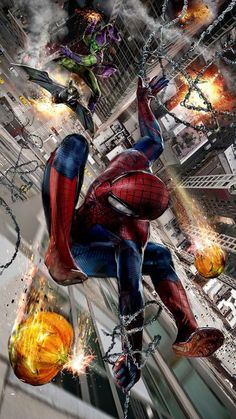 #Spiderman #Fan #Art. (Spidey vs the Green Goblin) By: John Gallagher. (MAJOR ÅWESOMENESS!!!™) [THANK U 4 PINNING!!]