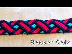 Bracelet Bresilien simple modèleTresse (débutant) France - YouTube