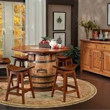 Jack Daniels Whiskey Barrel Table And Chairs