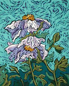 A Lavender Breeze Poppy Floral, Monique Straub