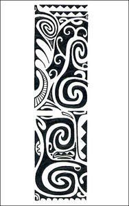 Motifs tatouage polynésien et Marquisien