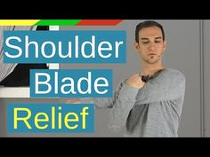 Fix Upper Back Pain Between Shoulder Blades - 7 Exercises Easy Exercises and Stretches to relieve your upper back pain between shoulder blades. Find out the causes, symptoms and self massage techniques. Shoulder Blade Stretch, Shoulder Blade Muscles, Shoulder Pain Relief, Neck And Shoulder Pain, Muscle Pain Relief, Neck Pain Relief, Upper Back Pain Exercises, Severe Back Pain, Back Pain Remedies