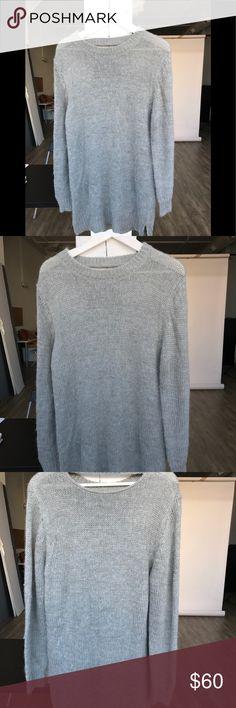 973bebc2f45 Cheap Monday Oregon Sweater Dress Cheap Monday grey sweater dress with back  cutout and side slits