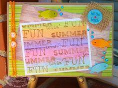 Homemade washi tape, #washi, #doodlebugdesigns, summer, fish, bubbles, #queenandcompany