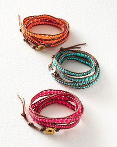 Chan Luu Bright Bead Wrap Bracelet