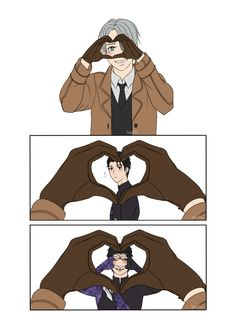 Credit to artist: Tumblr | Yuri on ice! >> GAAAAH, THIS IS ADORABLE