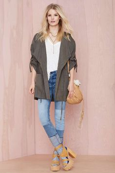 Incognito Anorak - Olive - Coats      Jackets + Coats