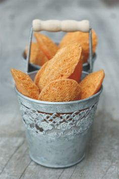 Citrus Madeleines #french #baking #rustic