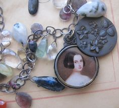 Gemstones & A Slide Locket by FrenchSentiments on Etsy