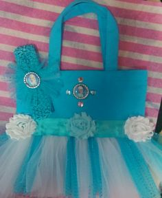 Frozen Inspired Tutu Tote Bags with by DivaCreativeDesigns on Etsy, $12.99