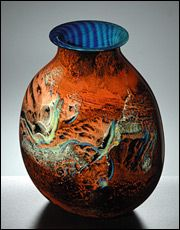 Red 'New Mexico' Vase by Josh Simpson