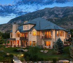 Country Home - 02 - traditional - Exterior - Salt Lake City - THINK architecture Inc. Luxury Homes Exterior, Luxury Homes Dream Houses, Dream House Exterior, Exterior Design, Exterior Paint, Dream Home Design, My Dream Home, Traditional Exterior, House Goals