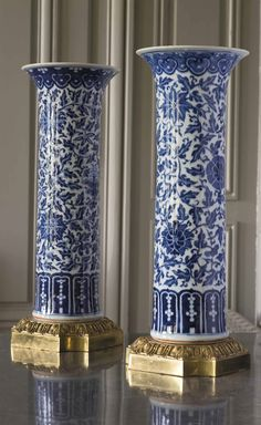 A pair of ormolu-mounted vases. China, early 10th century #laviedechateau