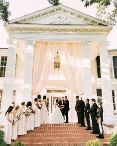 A Classic Southern Wedding on a Historic Front Porch #Weddings #WeddingIdeas #Bridal #WeddingInspiration #WeddingVenue | Martha Stewart Weddings