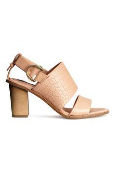 Chaussures ouvertes en cuir | H&M