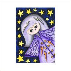 Magic Kokeshi ATC, Kokeshi Doll ACEO, Artist Trading Card, Japanese Kokeshi Drawing, Oriental Doll Trading Card, Miniature Doll Design Card by deejavuart on Etsy https://www.etsy.com/uk/listing/570473934/magic-kokeshi-atc-kokeshi-doll-aceo