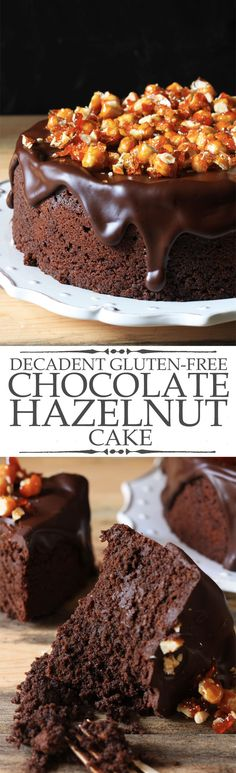 Decadent Gluten-Free Chocolate Hazelnut Cake