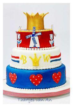 Koninginnedag Queensday cake 2013 Taartjes van An